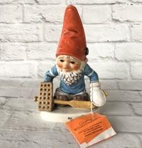 Goebel Gnome Co-Boy Gil The Goalie #1 Hockey Skater Vintage 1977 Elf Ath... - $31.87