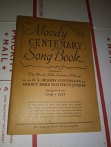 Moody Centenary Song Book 1936 1937 Moody Bible Institute - Chicago Vint... - $14.47