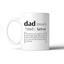 Dad Noun White Ceramic Coffee Mug Funny Design Perfect Gift For Dad - $14.99