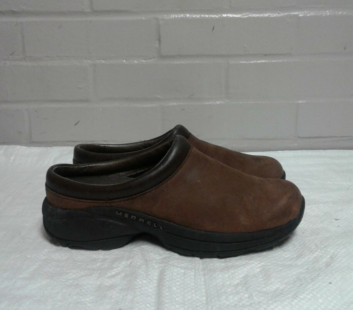 Merrell Women's Moc Jungle Primo Brown Air Cushion Suede Mule Clog Shoes US 7 image 2