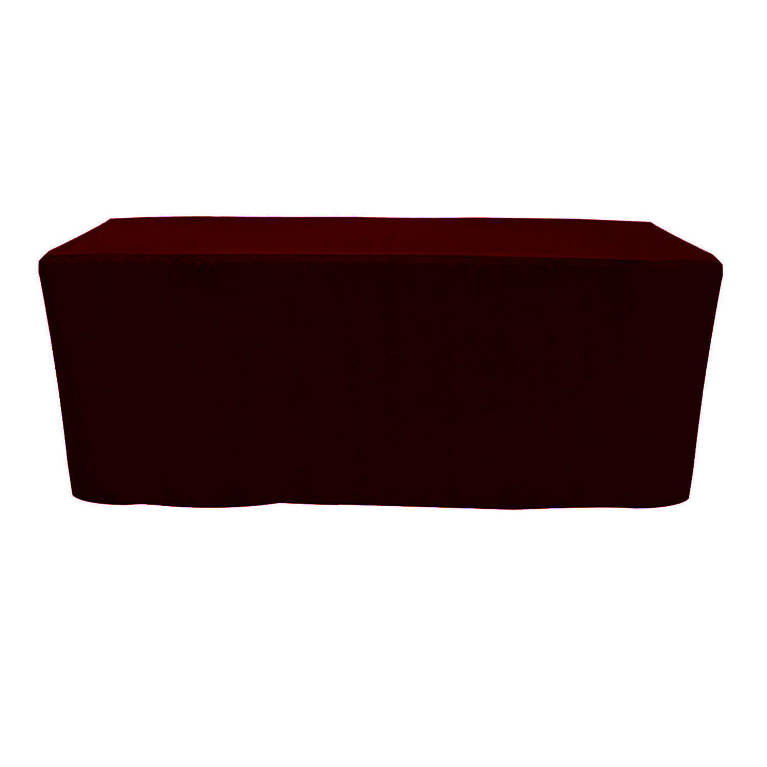 Primary image for Fitted Rectangular Premium Polyester Tablecloth Burgundy 6 ft