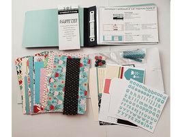 "S.E.I. Scrapbook in a Bag, Winter Wonderland 4"" x 6"" Memory Book Kit image 3"