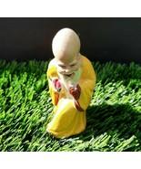 Vintage 1920 alte chinesische weise Mann Kunst Keramik Statue Figur # 6 - $44.40