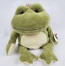 "TY Classic Kissed the Frog 12"" Plush Crown Prince Beanbag Stuffed Animal... - $18.14"