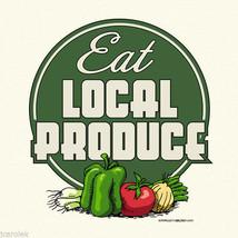 Farm Produce T-shirt Eat Local S M L XXL Organic Cotton Natural Farmer Garden - $20.20
