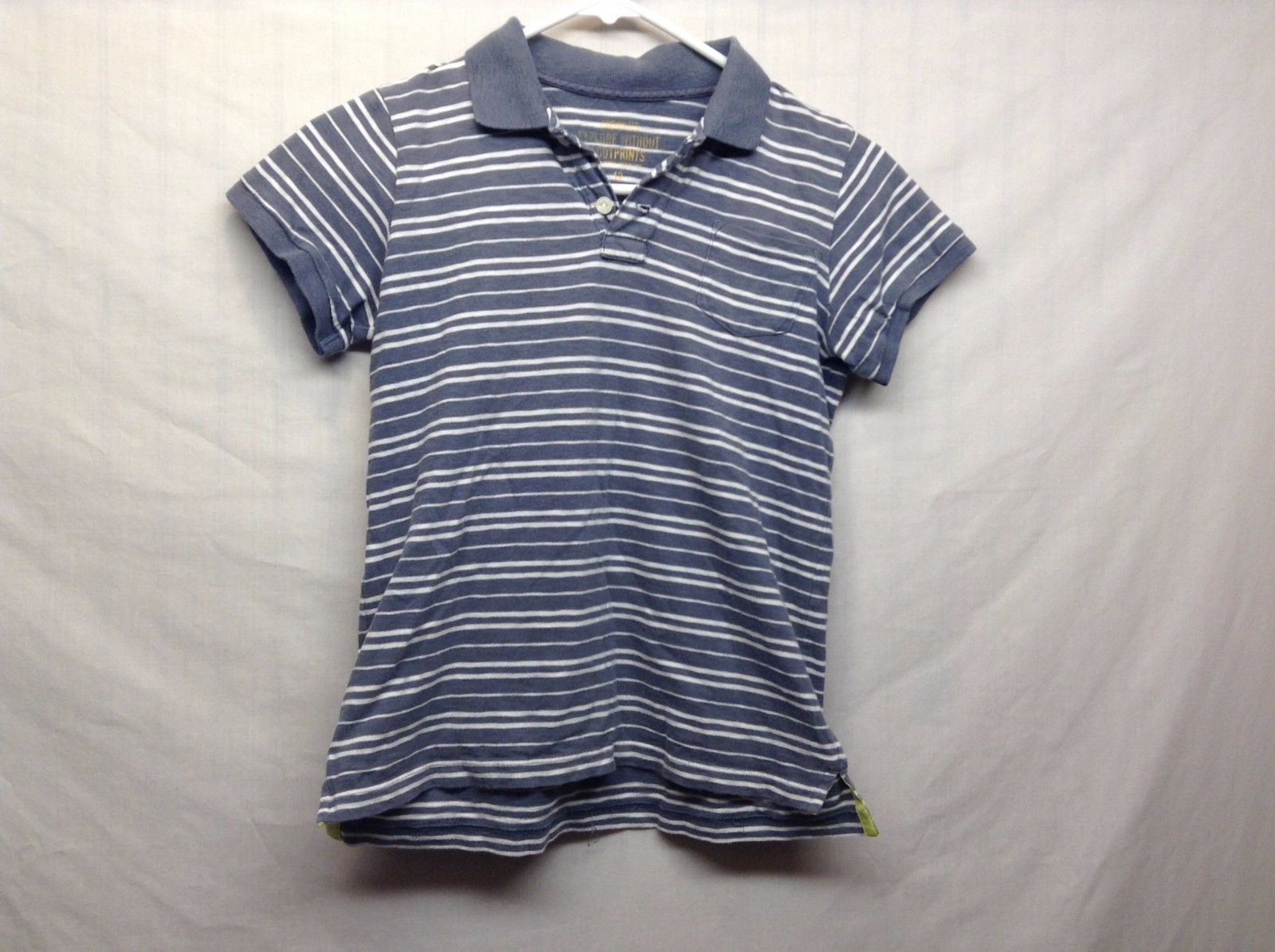 Crewcuts Striped Short Sleeve Gray White Collared POLO Sz 12 Kids