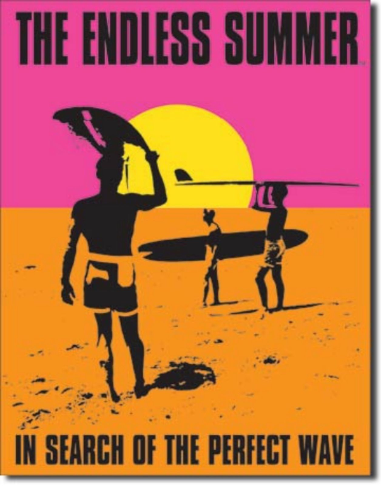 The Endless Summer Search Perfect Wave Metal Sign Tin New Vintage Style USA 1137