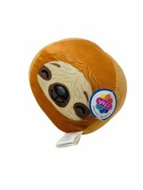 "Nanco Plush Round Ball Sloth Brown and Tan Stuffed Animal 6"" Soft Toy - $9.99"