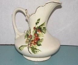 "8"" Cherry Tree Pitcher-Vase, Decorative Ceramic (Etched/Signed Iris ' 83) - $19.31"