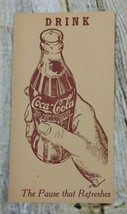 """Vintage 1940's Coca Cola 1 Cent Postcard """"The Pause That Refreshes"""" Unused - $14.99"""