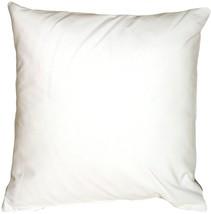 Pillow Decor - Caravan Cotton White 16x16 Throw Pillow - $19.95