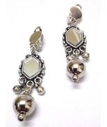 Silver Oxidized Earrings Jhumka Jhumki Chandelier Dangle Drop Long - Fol... - $5.93