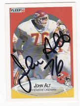 John Alt Autographed Card 1990 Fleer Kansas City Chiefs - $3.58