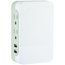 GE(R) 37090 2-Outlet Side-Access Surge Protector Wall Tap with 2 USB Ports - $40.79
