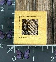 Dots Dotted Lines Square Scratched Lines Framed Rubber Stamp 1989 Wood #... - $2.72