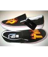 Vans x Thrasher Mens Slip on Pro Skate shoes Black White Orange Size 12 ... - $74.24