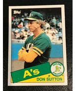 1985 Topps Traded #116T Don Sutton Oakland Athletics Baseball Card - $1.24