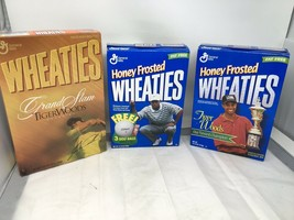 Lot 3 Sealed Wheaties Boxes Tiger Woods Honey Frosted Grand Slam Champ 1... - $33.66
