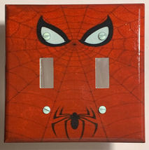 Spiderman Logo Light Switch Duplex Outlet Wall Cover Plate Home decor image 4