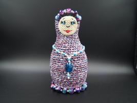 Gift set 2 handmade gemstone bracelets crochet matryoshka bracelet holder - $28.60