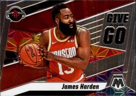 2019-20 Panini Mosaic Give and Go #6 James Harden Rockets - $4.95
