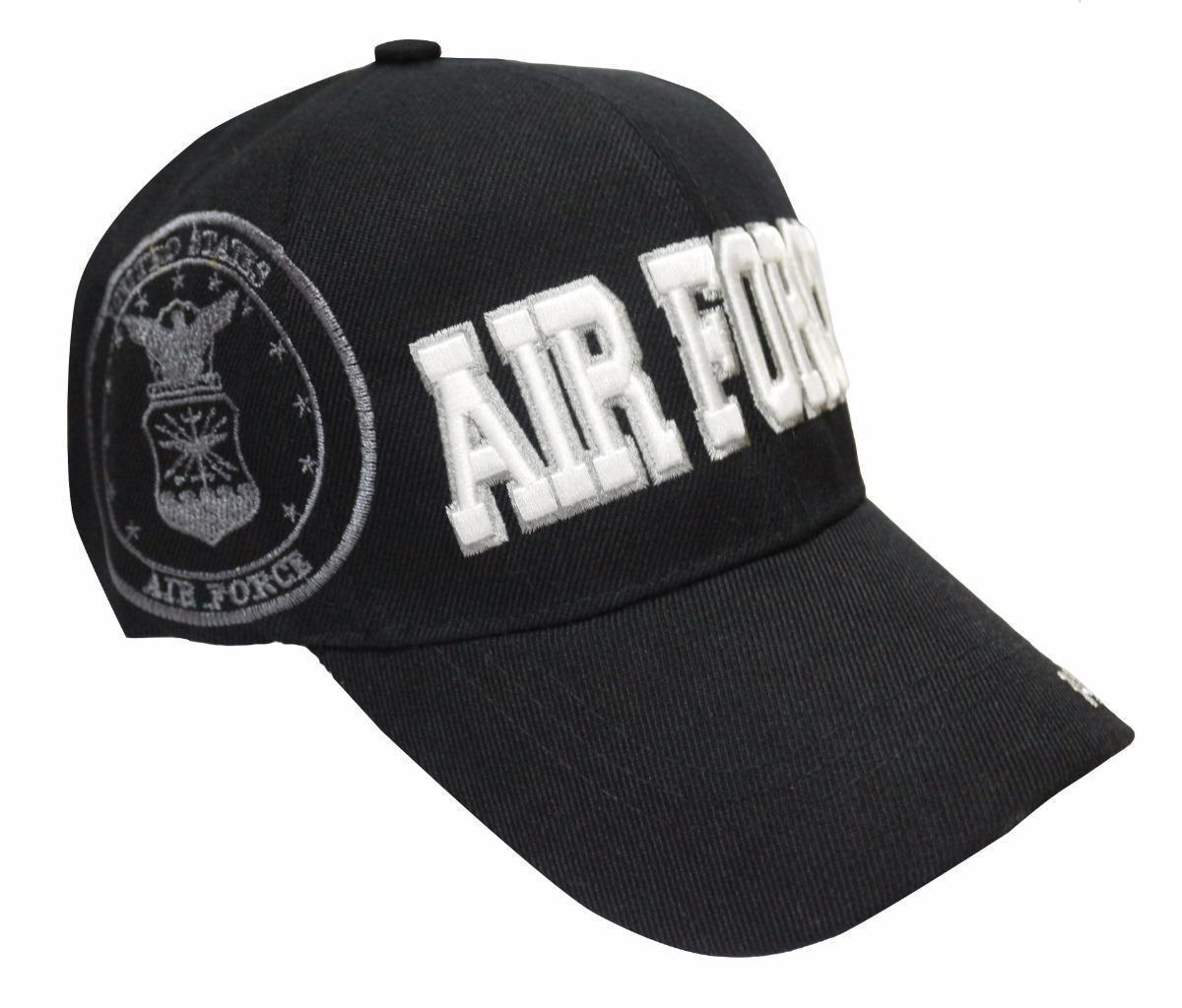 NEW PREMIUM UNISEX AIR FORCE OFFICIAL ADJUSTABLE BASEBALL HAT CAP BLACK ONE SIZE