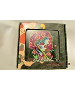 Set of 4 * Ed Hardy * Skulls Glass Coaster Set with Holder *   NEW  in Box - $10.39