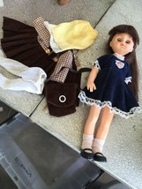 GINNY DOLL IN ORIGINAL OUTFIT & MATCHING HAT. 1977 Extra Outfit (gar) - $23.76