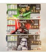 STAR WARS Campbells Condensed Soup 2015 LABEL LOT Yoda Darth Vader Storm... - $5.93