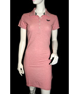 NEW SUPERDRY TOKYO VINTAGE women pink short sleeve button POLO BODYCON D... - $28.04