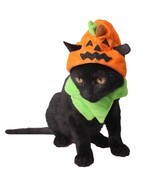 Cute Pumpkin Pet Costume Dress Up Cap Puppy Dogs Cats Halloween Party De... - $182,85 MXN