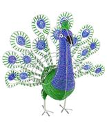 Peacock Body Handcrafted Beaded Sculpture - $66.95