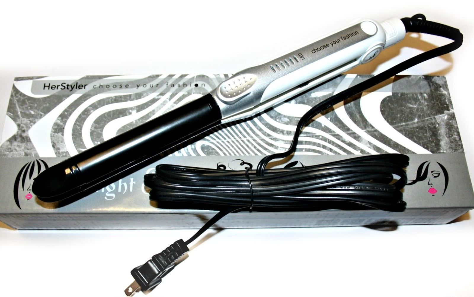 Herstyler Straight & Curl Styling Iron Flat Iron, NIB - $23.99