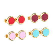 2020 New Style Colorful Opal Stud Earrings Stainless Steel 4pairs Earrin... - $13.93