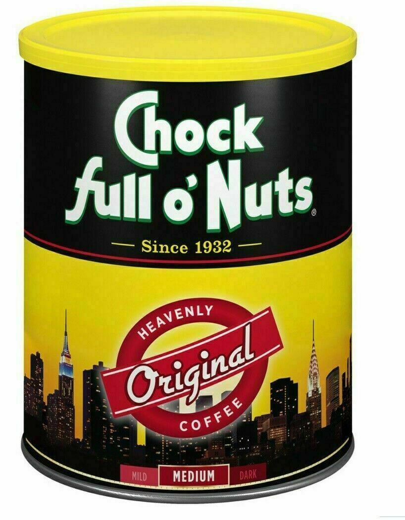 NEW Chock full O'Nuts Ground Coffee Original Heavenly Medium Roast  48oz / 3Lb