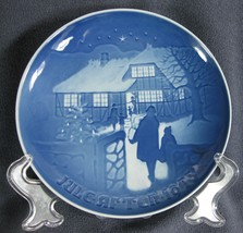 Bing & Grondahl Annual 1973 Country Christmas Collector Plate Denmark - $21.95