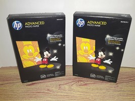 (2) 1 NEW/1 OPEN-HP Advanced Glossy Photo Paper 4x6 Mickey Mouse- 100p ea. - $22.00