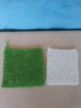 Set of 2 handknit sparkly washcloths - $14.00