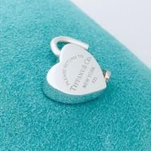 Return to Tiffany & Co Sterling Silver Heart Padlock Lock Charm Pendant - $139.00
