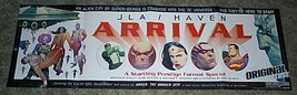 34 by 11 DC Comics JLA Haven promo poster 1: Superman/Green Lantern/Wond... - $29.69
