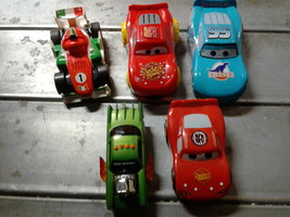 A Lot of Disney Pixar Cars and Racing Car - $20.00