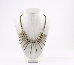 Vivi Love Cookie Lee Sun Ray Tribal Antique Gold Statement Necklace - $21.78