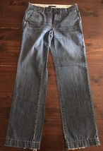 Gap 1969 Limited Edition Denim Blue Jeans Sz 8L Tall 100% Cotton Wide Leg 32x32 - $14.03