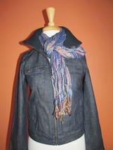 Talbots Size 0P Dark Denim Jean Jacket with Zippers at Cuffs - $38.61