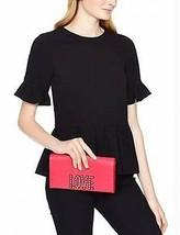 $298 KATE SPADE New York LOVE Birds TALLY Clutch Bag HANDBAG Saffiano Pink - £146.71 GBP