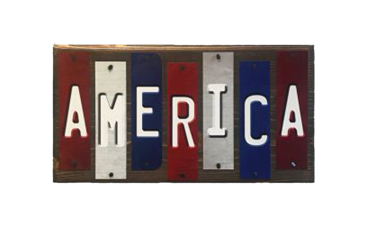 America Fun Strips Novelty Wood Sign WS-020 - $47.65