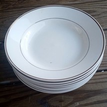 POTTER & SMITH WHITE  SOUP / CEREAL BOWL - SET OF 8 - $35.50