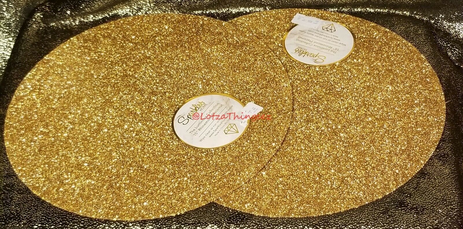 "Sparkles Home The Luminous Collection 15"" Rhinestone Placemats Set of 2 PICK"