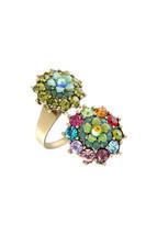 Michal Negrin Brass Ring Swarovski Crystals # 100171740005 - $84.22
