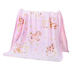Pink Zebra Microfiber Baby Washcloth, 75 by 140 cm